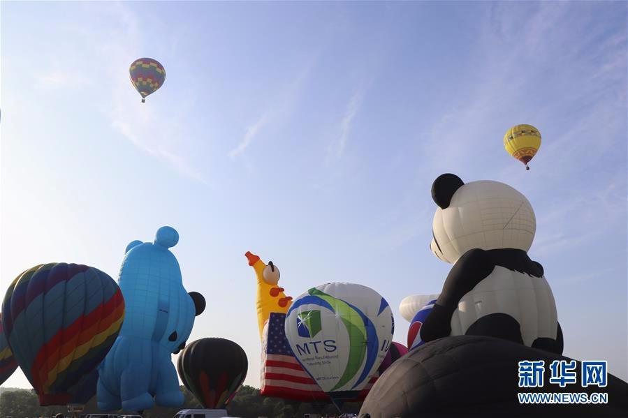 新泽西热气球节开幕