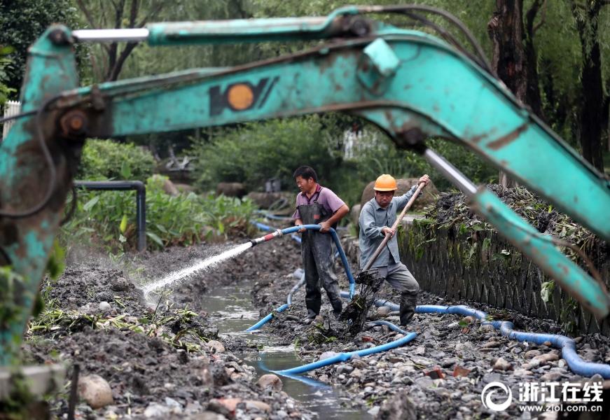 """杭州:清理""""毛细血管"""" 提升河道环境"""