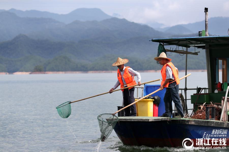千岛湖环卫工 守护一湖秀水